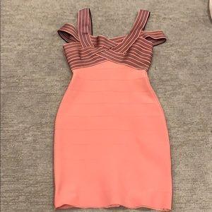 Dresses & Skirts - Unique black/pink small bandage dress never worn